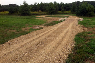 A new driveway and culvert has been added to the tree field for 2014.